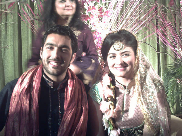 Aisam Faha Mehndi Aisam Ul Haq Qureshi Wedding with Faha Makhdum