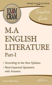 MA ENGLISH MA English syllabus of Punjab university