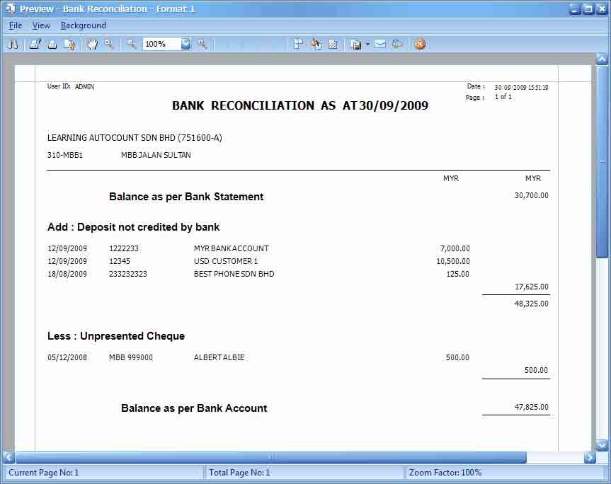 Bank-Reconcilation