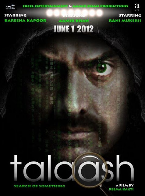 Talaash Poster First Look Aamir Khan talaash movie aamir khan Ijazat Song