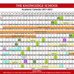 The Knowledge School Academic Calendar 2012