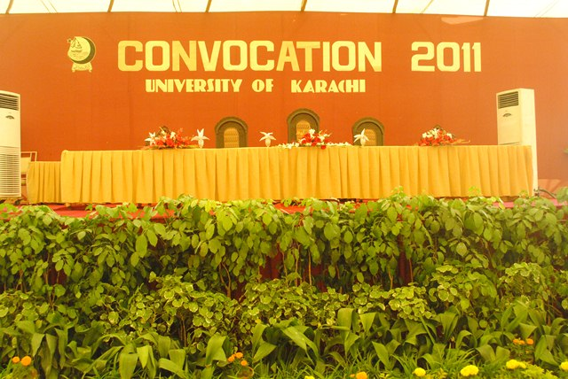 University of karachi convocation 2012