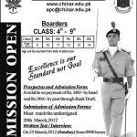 Army Public School Chinar Campus Murree Admissions 2016