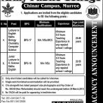 Jobs in Army Public College Murree For Lecturers