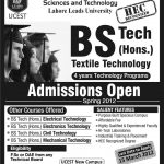 University College of Engineering Sciences And Technology Lahore Admissions 150x150 NCBA and E Lahore Admission 2016 Form Entry Test Result