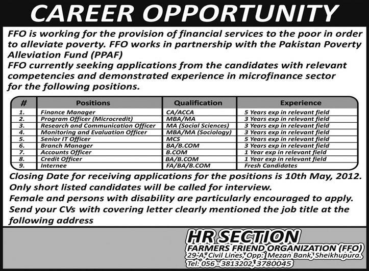 farmers friend organization jobs