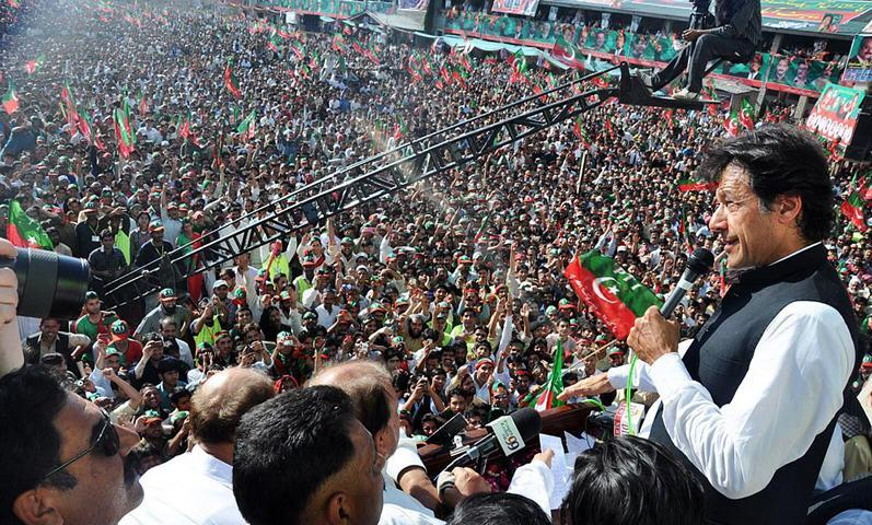 imran khan in abbottabad Imran Khan PTI Jalsa in Abbottabad 8Th April 2012