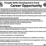 The Punjab Skills Development Fund Jobs 2014
