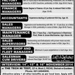 Accountant Jobs in Saudi Arabia for Pakistanis 2015