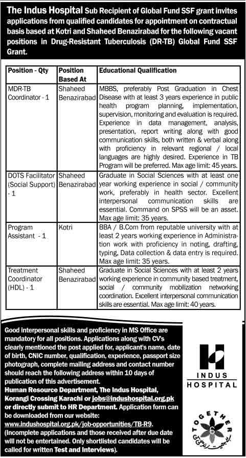 The-Indus-Hospital-Jobs-2014