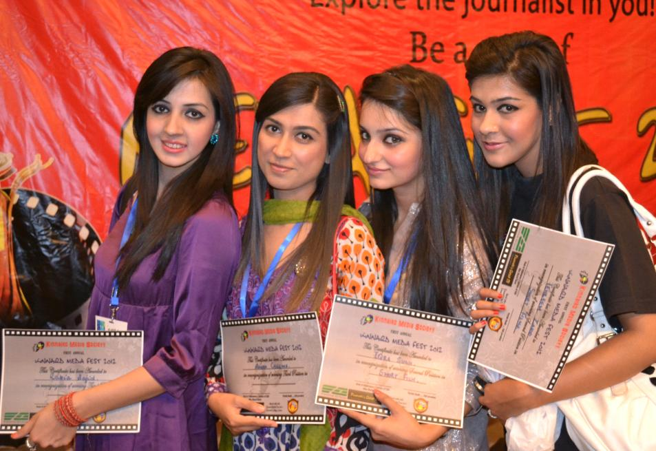 students of Kinnaird College Glow Warid First Media Festival Held in Kinnaird College