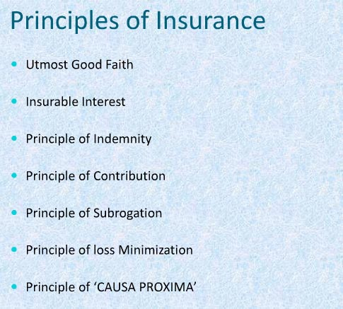 Basic Essential Principles of Insurance