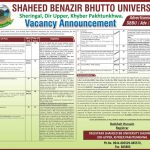 Jobs In Shaheed Benazir Bhutto University