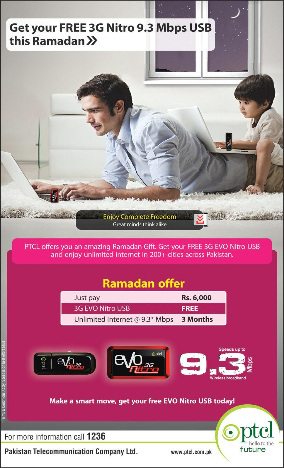 Get Your Free 3G Nitro 9.3 Mbps USB This Ramadan