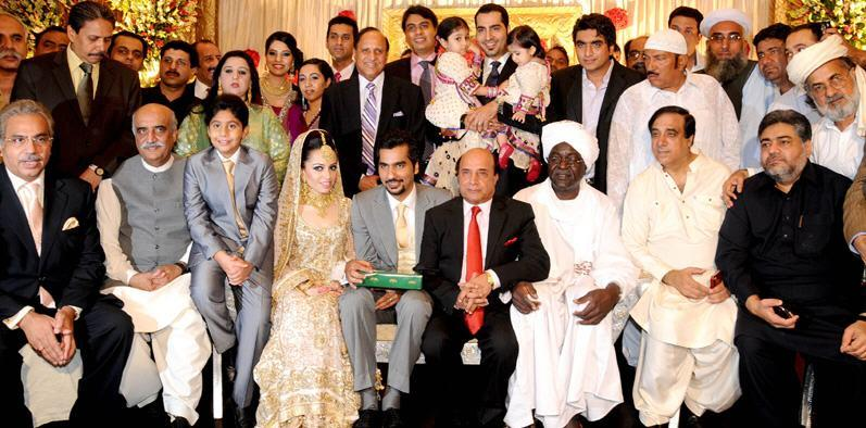 PPP Leader Naveed Chaudhry Son Marriage Ceremony Sara Chaudhry And Sataesh Khan Left Showbiz