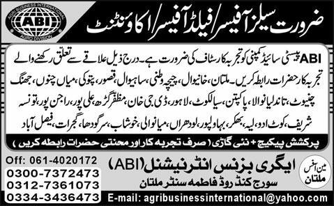 agribusiness international ABI Jobs 2012 Agribusiness International (ABI) Jobs Sales & Accountant
