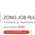 jobs alert 150x150 Zong launches TimePay: Mobile Banking with Askari Bank