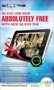 3GB USB Device Absolutely Free with New 3GB EVO Tab