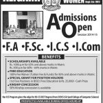 Aligarh College For Women Lahore Admissions 2015