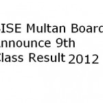 BISE Multan Board 9th Class Result 2012