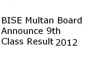 multan board 9th class result 2012 300x255 BISE Multan Board 9th Class Result 2012