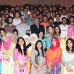 Gcu Lahore Students Group Photo with Dr. Muhammad khaliq ur rahman 150x150 GC University Lahore Convocation 2014
