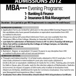 Admission in MBA at Hailey College of Commerce Lahore