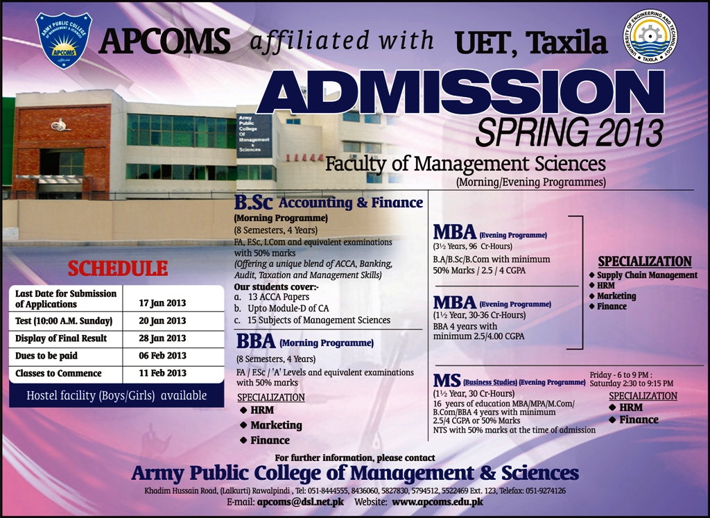 APCOMS University of Sunderland Admissions 2015 in London Campus