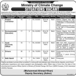 Ministry of Climate Change Government of Pakistan Jobs
