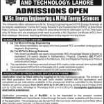UET M.Sc and M.phil Energy Admissions January 2013 150x150 Dawood College Of Engineering And Technology Admissions 2013