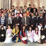 GC University Group Photo with Dr Khaleeq-ur-Rahman
