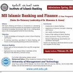 UMT MS Islamic Banking and Finance Admissions 2013