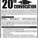 UET.edu.pk 20th Convocation on 11-March-2013