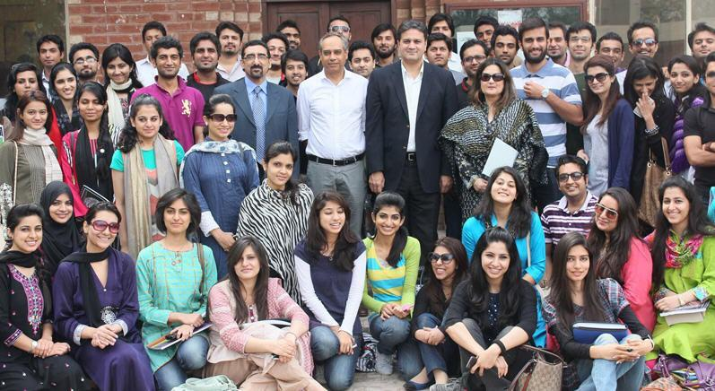 Lahore school of Economics Students Group Photo