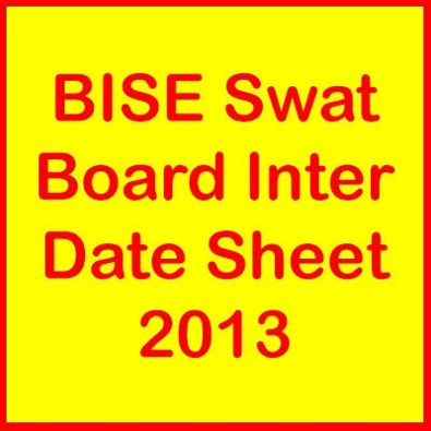 BISE Swat Board HSSC Part 1 and 2 Date Sheet 2016