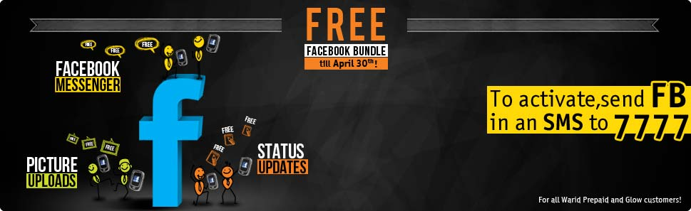 Warid Brings Unlimited Facebook absolutely FREE Till 30 April