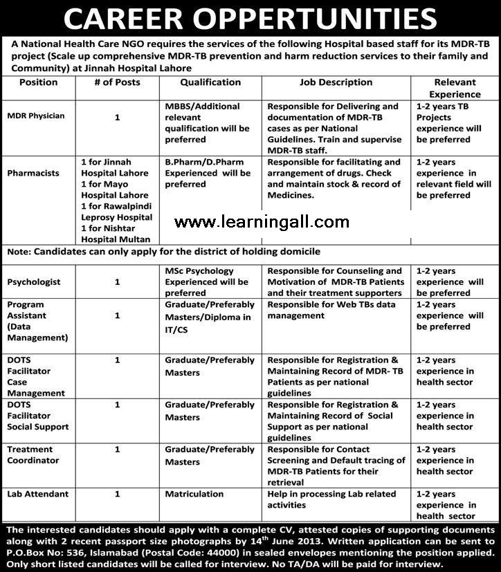 Jobs in National Health Care NGO