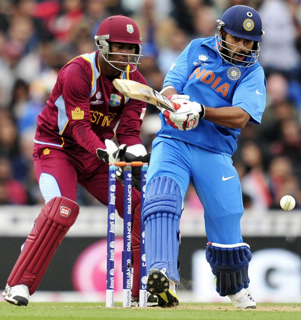 Shikhar Dhawan against west indies