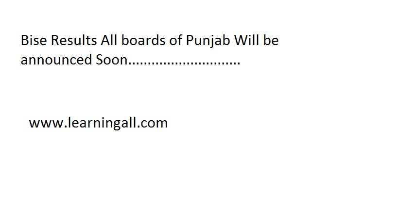 When Bise Punjab Board Matric Result 2013 Announced Date