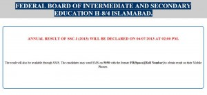 Fbise 9th Class Result 04-07-2013Fbise 9th Class Result 04-07-2013