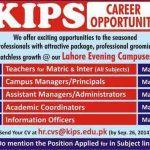 Kips School Jobs in Lahore Evening Campuses