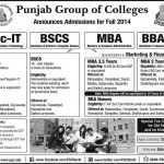 Punjab Group College Admissions 2014 150x150 Govt Islamia College Railway Road Lahore Admissions 2015