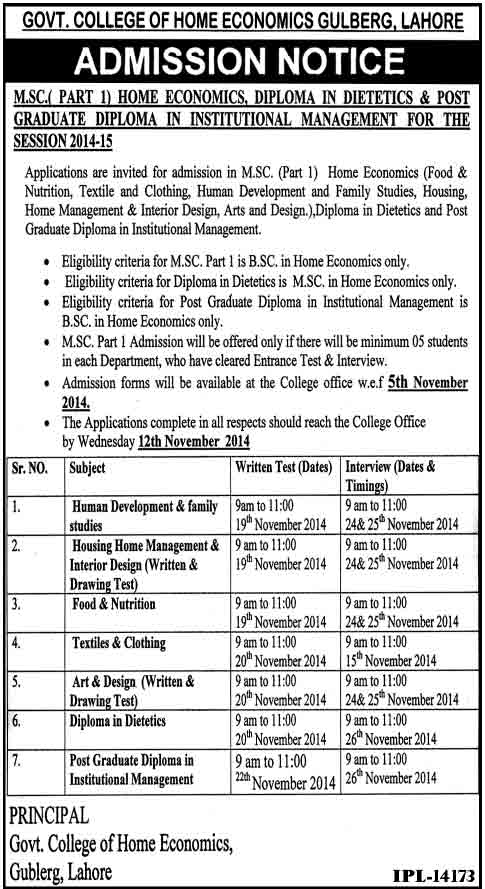 govt college admissions 2014 Kinnaird.edu.pk College for Women Admissions 2015