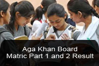Aga Khan Board Matric Result 2017 Part 1, 2 SSC 9th 10th