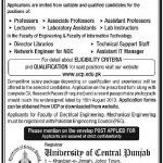 University of Central Punjab Jobs 2013