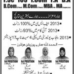 Jinnah Islamia Group Of Colleges Admissions 2015