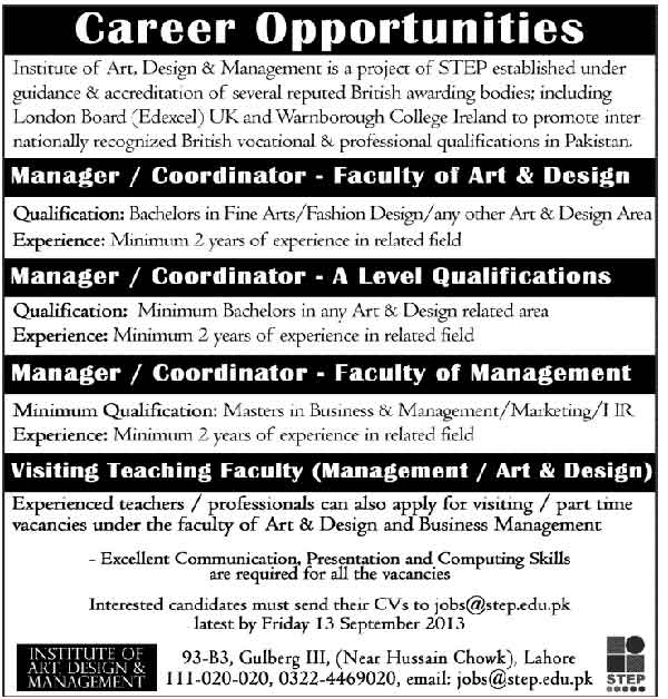 Institute-Of-Art,-Design-Jobs-2013