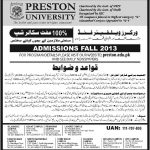 Preston University Free 2013 150x150 IBA Sukkur Admissions Talent Hunt Program 2014