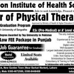 Nasjon Institute Admission in Doctor of Physical Therapy 2016