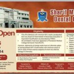 Admission Open in Sharif Medical Dental College Lahore